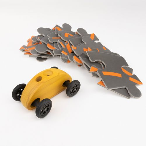 Finger Car Gelb mit Puzzle Set