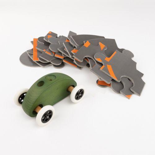 Finger Car Grün mit Puzzle Set