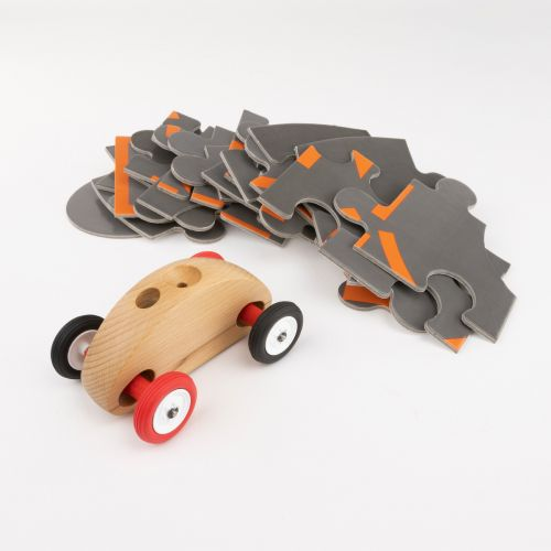 Finger Car Natur-Bunt mit Puzzle Set