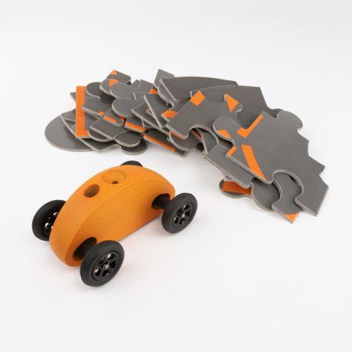 Finger Car Orange mit Puzzle Set