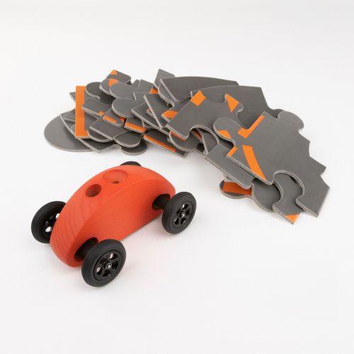 Finger Car Rot mit Puzzle Set