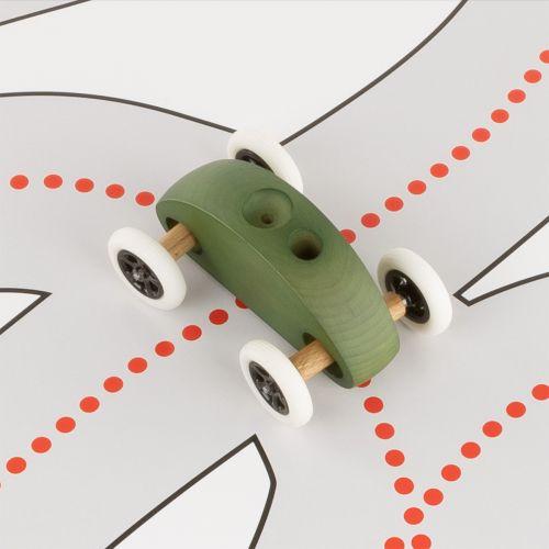 Finger Car Grün mit Fahrbahn