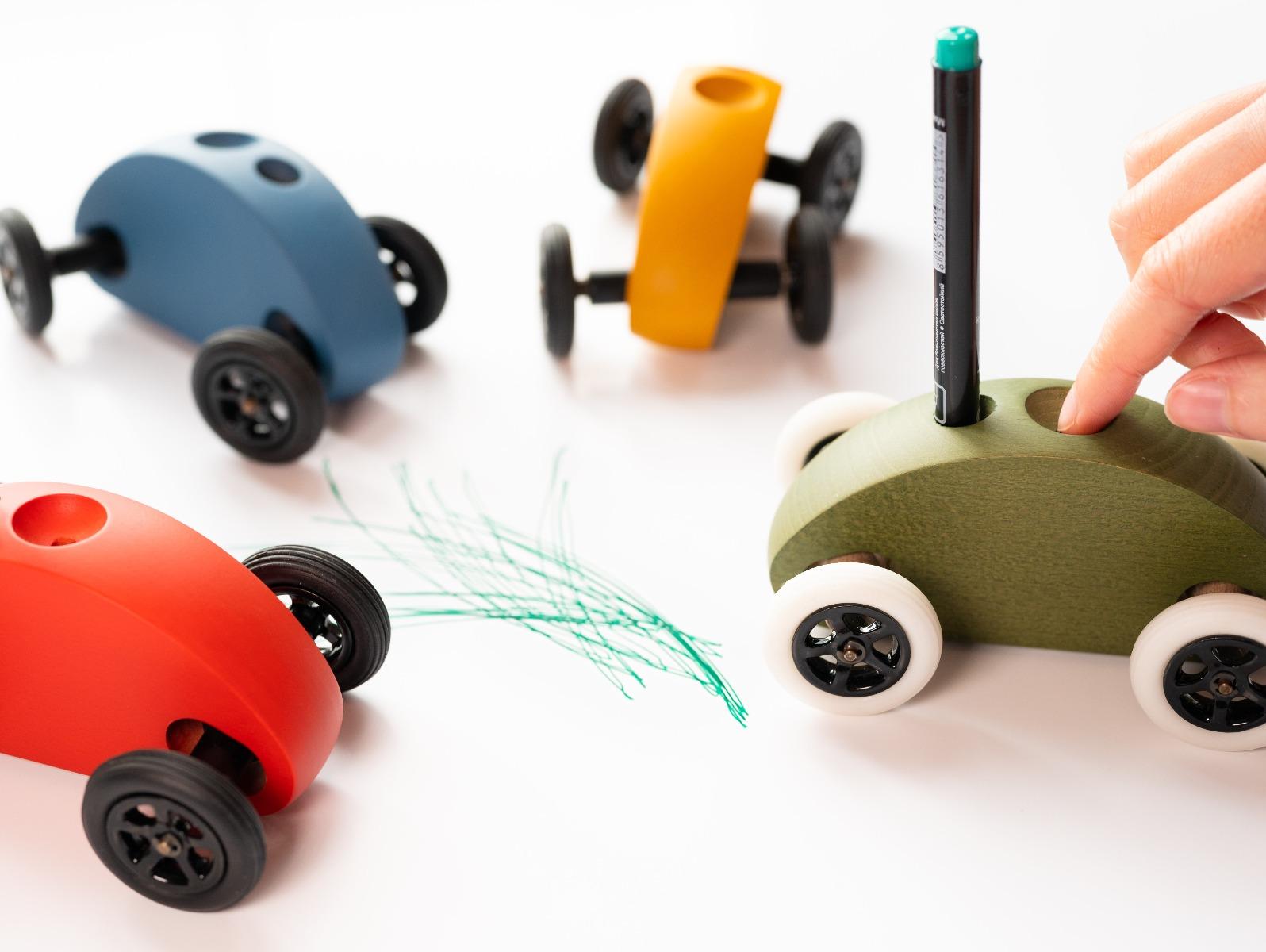 Zeichnen mit Auto Fingercar